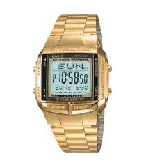 relógio digital casio vintage unissex - db360g9adfu dourado