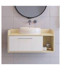 balcão banheiro criando mobilia gb07 gabinete suspenso 1 porta