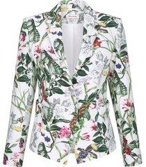 mönstrad kavaj alba moda vit::grön