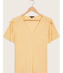 camiseta manga corta amarillo l