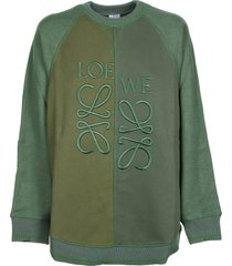 loewe loewe dark green sweatshirt