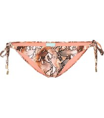 melissa odabash cancun snake-print bikini bottoms - brown