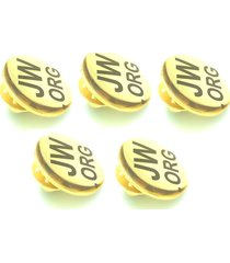 jw.org lapel pins round tie pins set of 5 gold tone pins