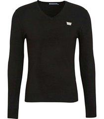 antony morato sweater v neck&plaquette black 9000