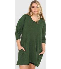 vestido verde minari lanilla