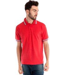 camisa polo konciny manga curta vermelho