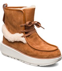 greta moccassin boot shoes boots ankle boots ankle boots flat heel brun fitflop
