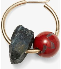 proenza schouler cluster hoop earring blue tiger eye/red jasper one size