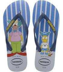 sandalias chanclas havaianas para hombre azul simpsons