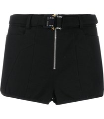 1017 alyx 9sm buckled fitted shorts - black