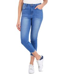 gogo jeans juniors' frayed-cuff cropped jeggings