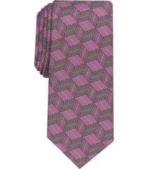 alfani men's abstract cube necktie, created for macy's