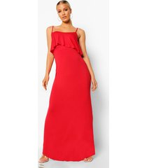 zwangerschap borstvoeding maxi jurk met laagjes, red