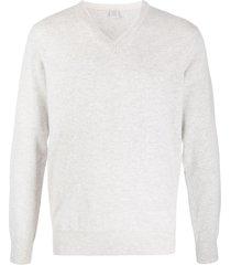 eleventy v-neck cashmere pullover - grey