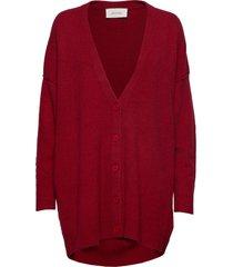 damsville stickad tröja cardigan röd american vintage