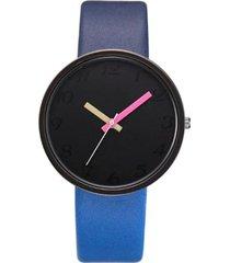 reloj mujer pulso cuero pu cuarzo casual 958 azul-2