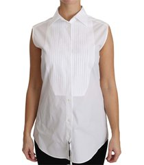 mouwloze blouse shirt
