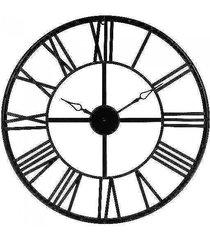 zegar metalowy vintage 70 cm czarny