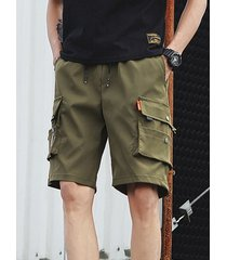 hombres summer loose casual big pocket overol shorts sueltos