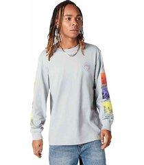 converse camiseta de manga larga tryptich