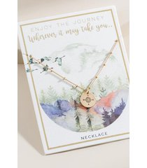 world traveler compass pendant in gold - gold