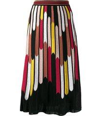 m missoni all-over print skirt - black