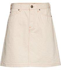 seasonal skirt kort kjol creme lee jeans