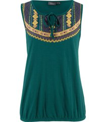 top di jersey in filato fiammato (verde) - bpc bonprix collection