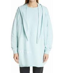 women's givenchy oversize bandana hoodie, size large - blue