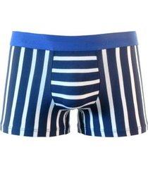 hom boxer briefs - goelette blauw/wit