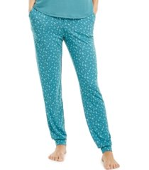 alfani super-soft knit jogger pajama pants, created for macy's
