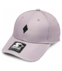 marcelo burlon county of milan boné x starter label cross baseball - rosa