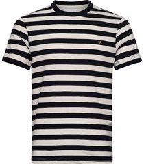 belgrove stripe ss t t-shirts short-sleeved creme farah