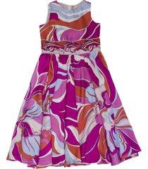 emilio pucci multicolor silk dress