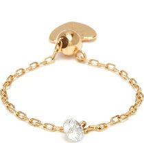 'danae' diamond 18k gold adjustable chain ring