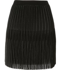 dion lee godet pleat mini skirt - black