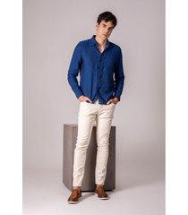 pantalón semifitted estándar para hombre cinco bolsillos
