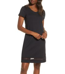 women's lusome gabriela nightgown, size medium - black
