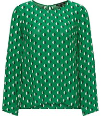 blouse knitted color groen