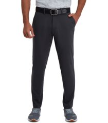 haggar men's active series slim-fit stretch solid casual pants