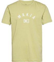brand t-shirt t-shirts short-sleeved grön makia