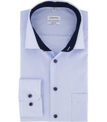 overhemd seidensticker blauw non iron