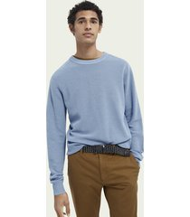scotch & soda gestructureerd gebreide sweater met ronde hals