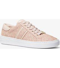mk sneaker keaton con righe e logo - ballet (rosa) - michael kors