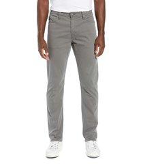 men's big & tall ag everett sud slim straight fit pants, size 34 x 36 - grey