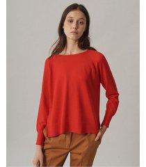 sweater rojo desiderata net roun neck chiara