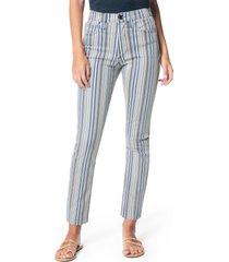 women's joe's the luna stripe high waist straight leg jeans