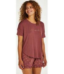 hunkemöller kort pyjamasset rosa