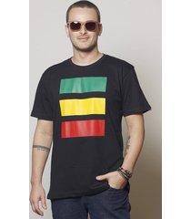 camiseta cores do reggae