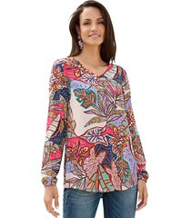 blouse amy vermont turquoise::paars::pink